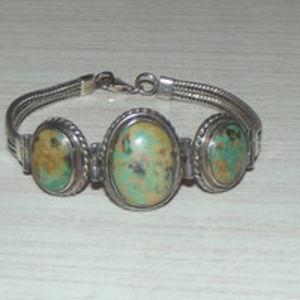 1960s Navajo Sterling Silver Turquise Bracelet